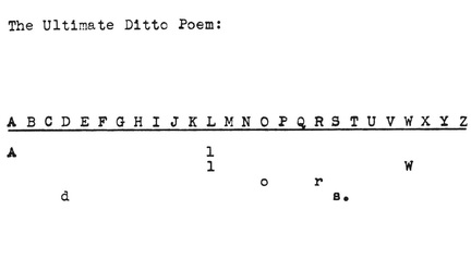 Robert Zend, Zend, Ditto poem, John Robert Colombo, Ultimate Ditto Poem